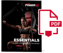 Thumbnail image of Essentials: Keiser Resistance Training Cover with PDF symbol